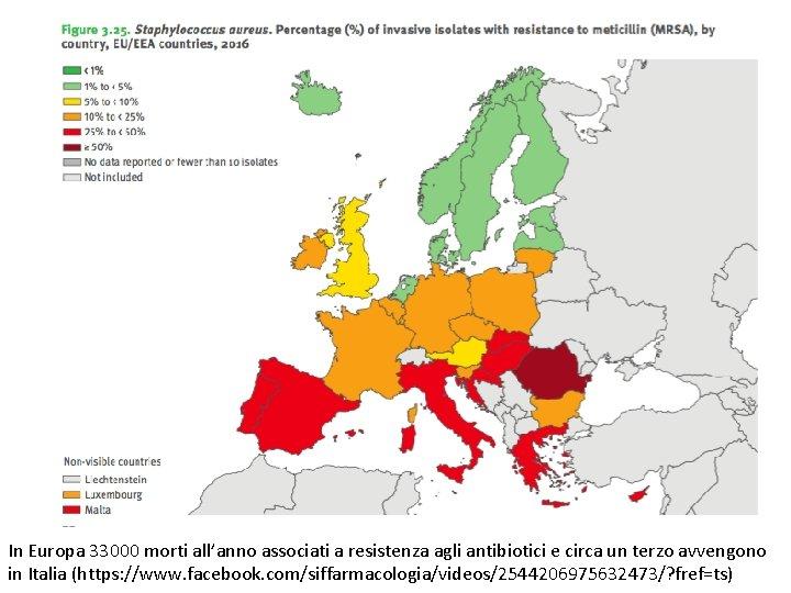 In Europa 33000 morti all'anno associati a resistenza agli antibiotici e circa un terzo