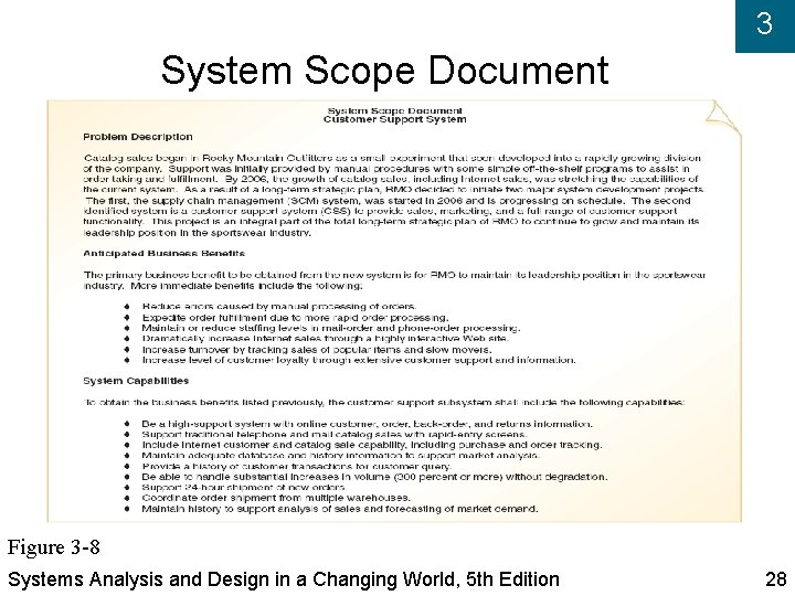 3 System Scope Document Figure 3 -8 Systems Analysis and Design in a Changing