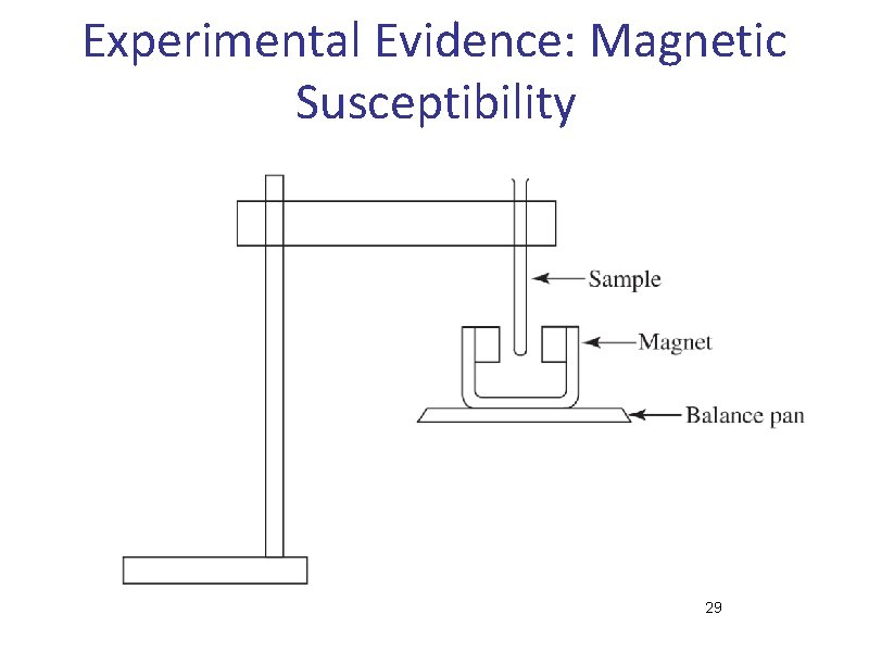 Experimental Evidence: Magnetic Susceptibility 29
