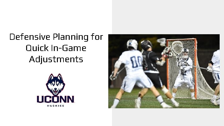 Defensive Planning for Quick In-Game Adjustments g