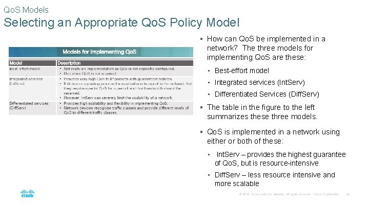 Qo. S Models Selecting an Appropriate Qo. S Policy Model § How can Qo.