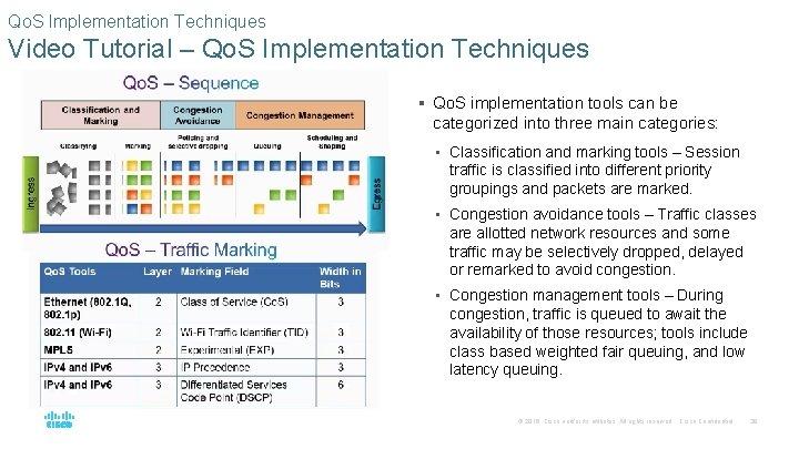 Qo. S Implementation Techniques Video Tutorial – Qo. S Implementation Techniques § Qo. S