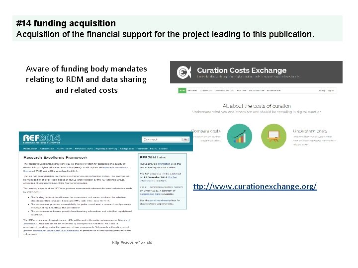 #14 funding acquisition Acquisition of the financial support for the project leading to this