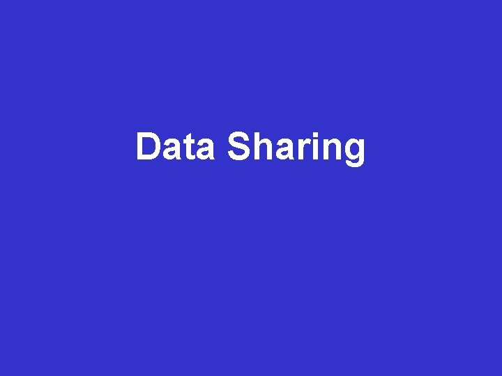 Data Management Data Sharing Planning