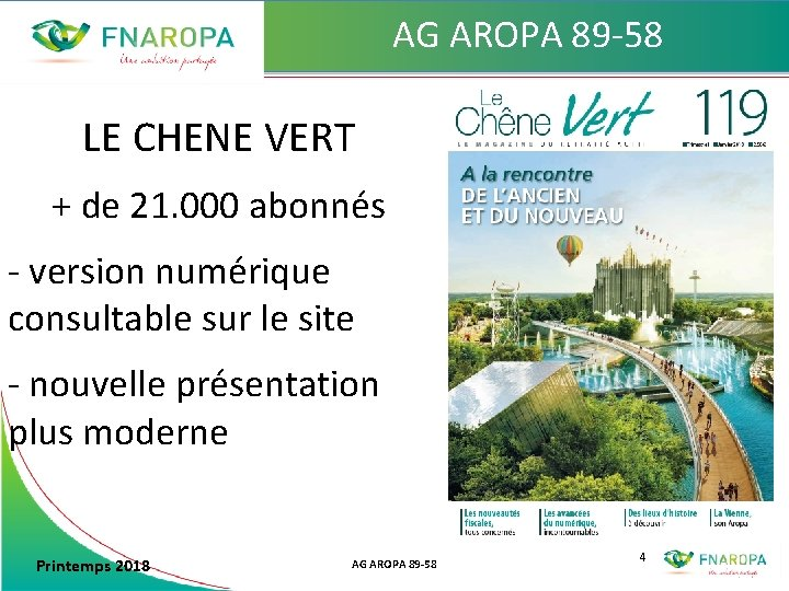 AG AROPA 89 -58 LE CHENE VERT + de 21. 000 abonnés - version