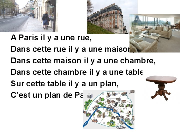 A Paris il y a une rue, Dans cette rue il y a une