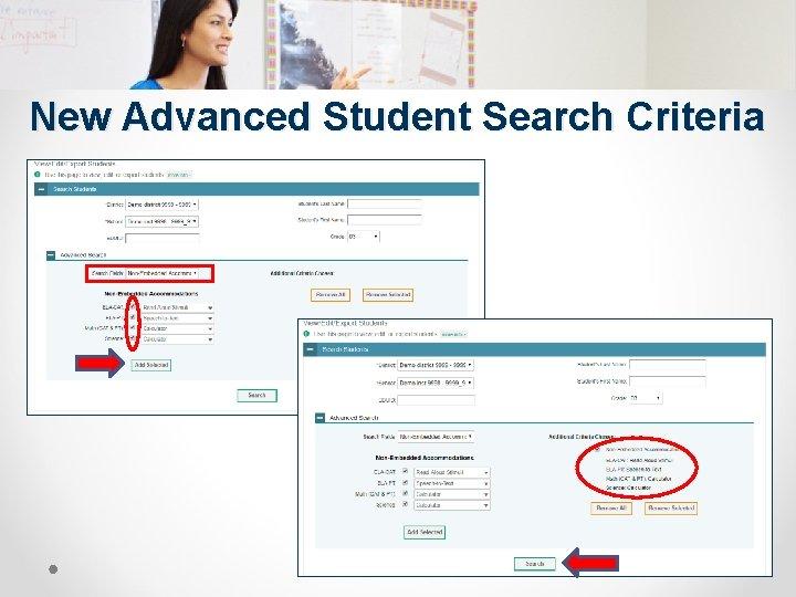 New Advanced Student Search Criteria