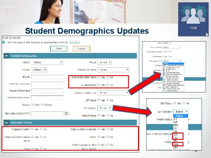 Student Demographics Updates SUPPORTING SCHOOLS AND STUDENTS TO ACHIEVE