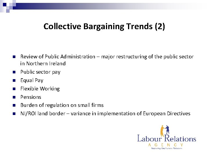 Collective Bargaining Trends (2) n n n n Review of Public Administration – major