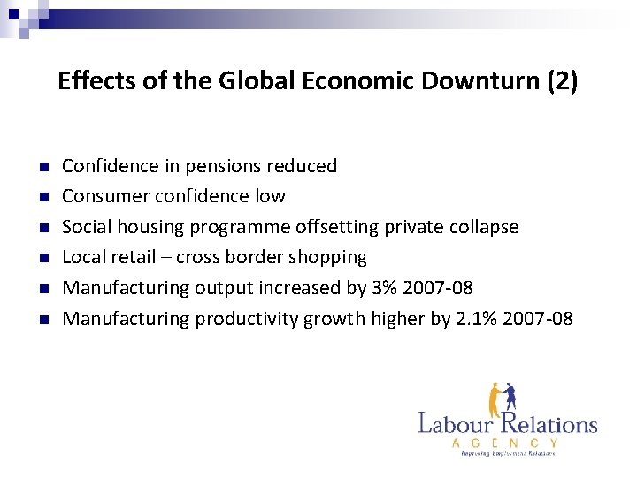 Effects of the Global Economic Downturn (2) n n n Confidence in pensions reduced