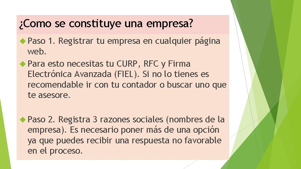 ¿Como se constituye una empresa? Paso 1. Registrar tu empresa en cualquier página web.