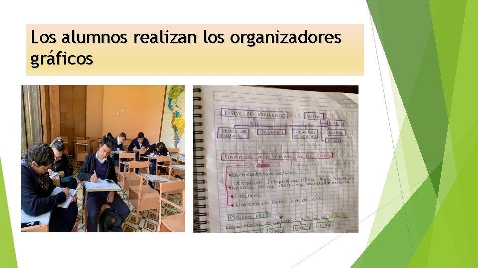 Los alumnos realizan los organizadores gráficos