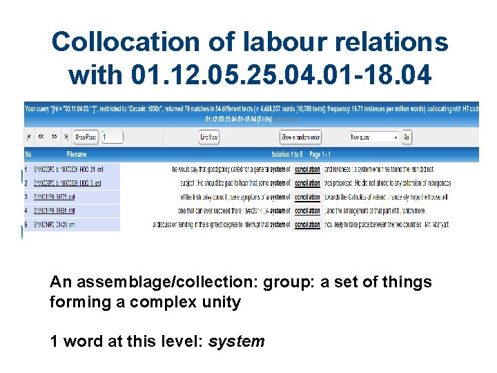 Collocation of labour relations with 01. 12. 05. 25. 04. 01 -18. 04 An