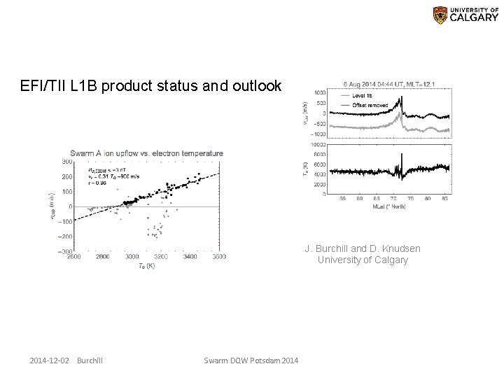 EFI/TII L 1 B product status and outlook J. Burchill and D. Knudsen University