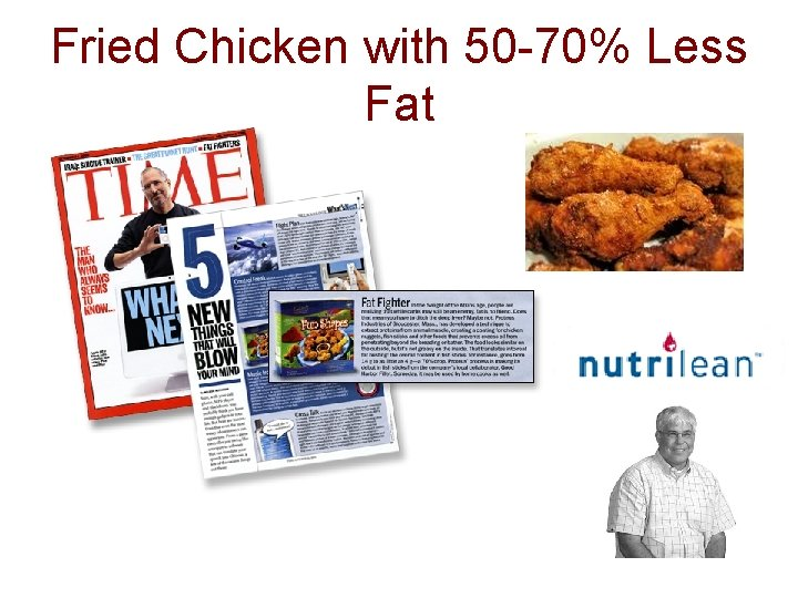 Fried Chicken with 50 -70% Less Fat