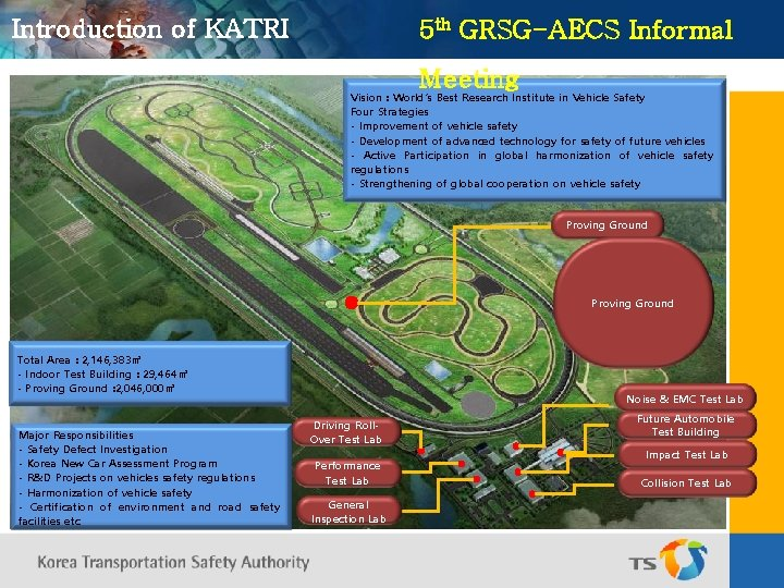 Introduction of KATRI 5 th GRSG-AECS Informal Meeting Vision : World's Best Research Institute