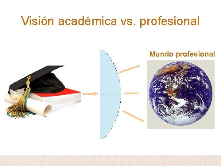 Visión académica vs. profesional Mundo profesional