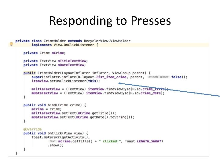 Responding to Presses