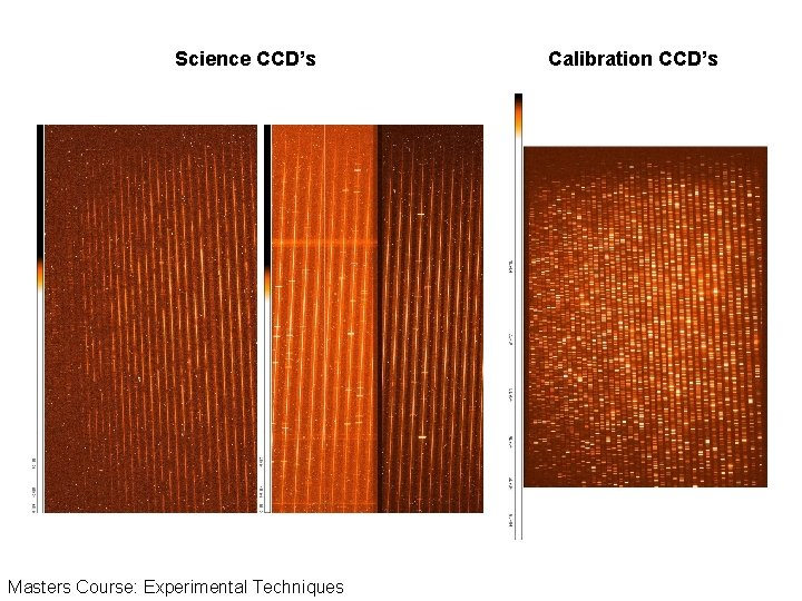 Science CCD's Masters Course: Experimental Techniques Calibration CCD's