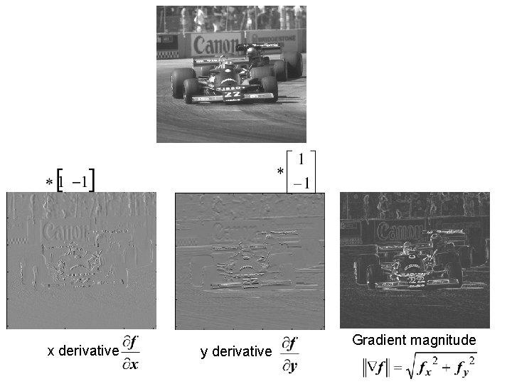 x derivative y derivative Gradient magnitude