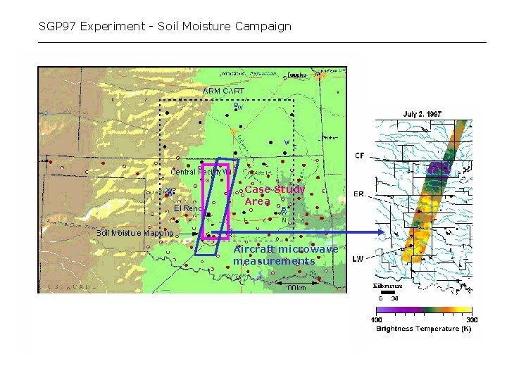 SGP 97 Experiment - Soil Moisture Campaign Case Study Area Aircraft microwave measurements
