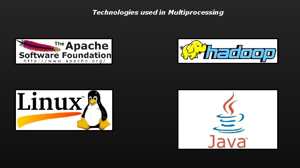 Technologies used in Multiprocessing