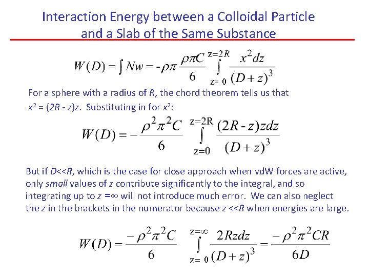 Interaction Energy between a Colloidal Particle and a Slab of the Same Substance 0