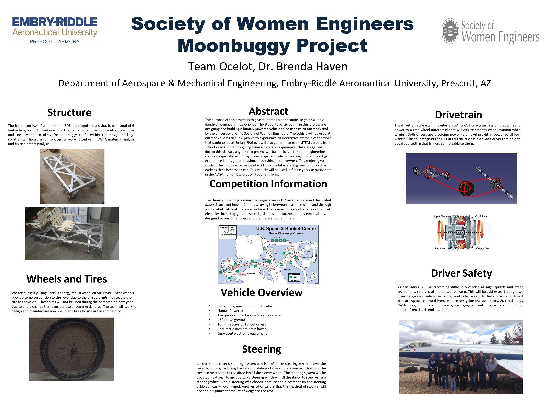Society of Women Engineers Moonbuggy Project Team Ocelot, Dr. Brenda Haven Department of Aerospace