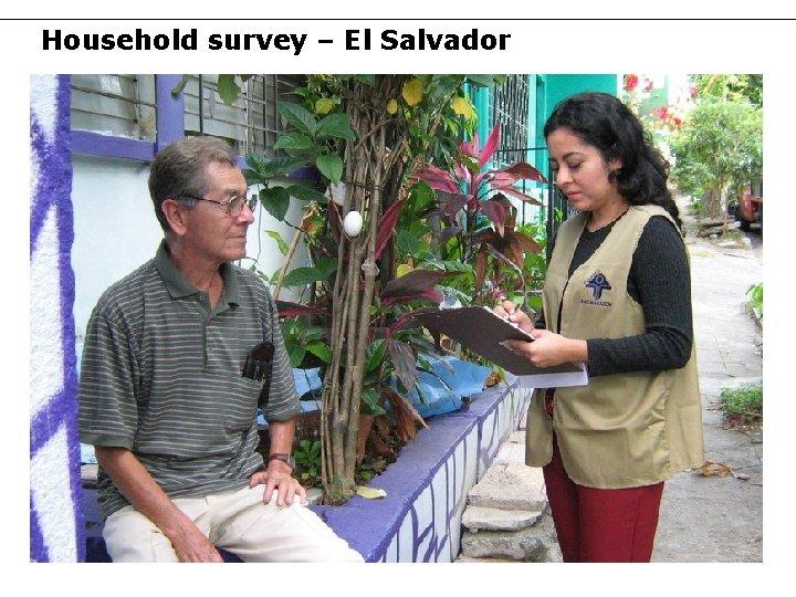 Household survey – El Salvador 41