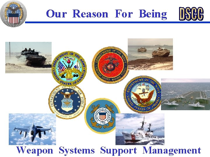 Our Reason For Being Weapon Systems Support Management