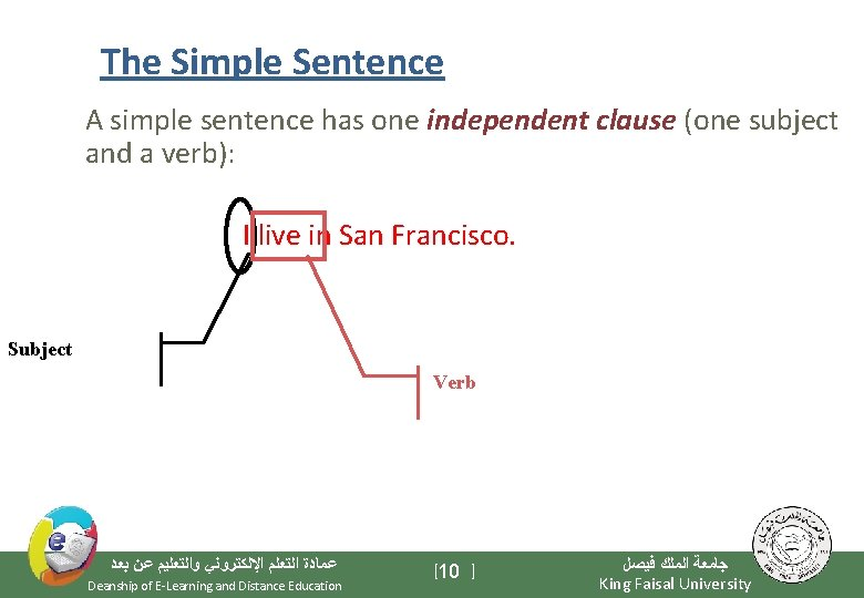 The Simple Sentence A simple sentence has one independent clause (one subject and a