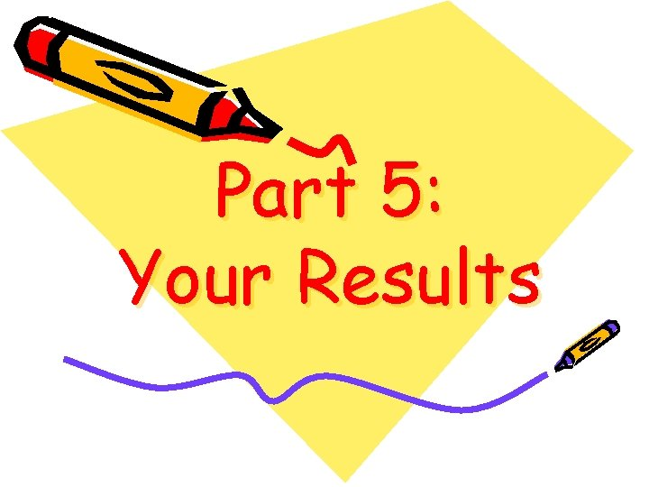 Part 5: Your Results