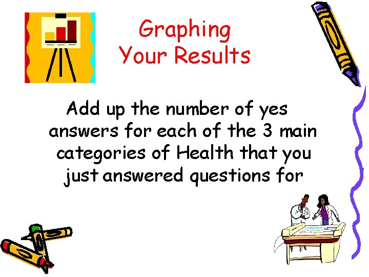 Graphing Your Results Add up the number of yes answers for each of the