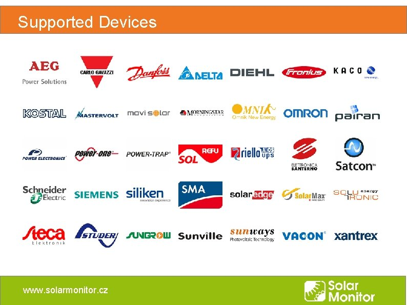 Supported Devices www. solarmonitor. cz