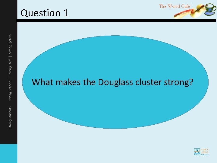 Question 1 The World Cafe´ What makes the Douglass cluster strong?