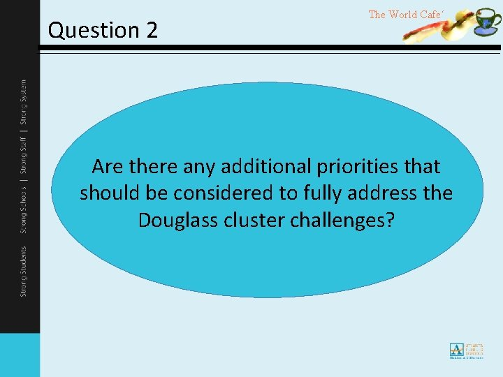 Question 2 The World Cafe´ Are there any additional priorities that should be considered