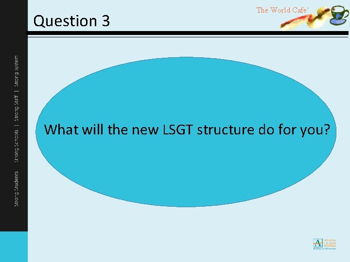 Question 3 The World Cafe´ What will the new LSGT structure do for you?