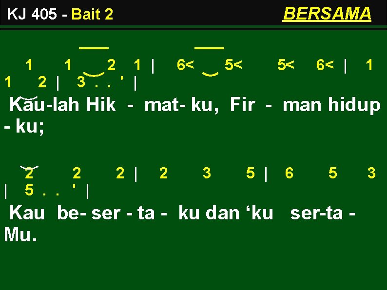 BERSAMA KJ 405 - Bait 2 1 1 1 2   2 1  