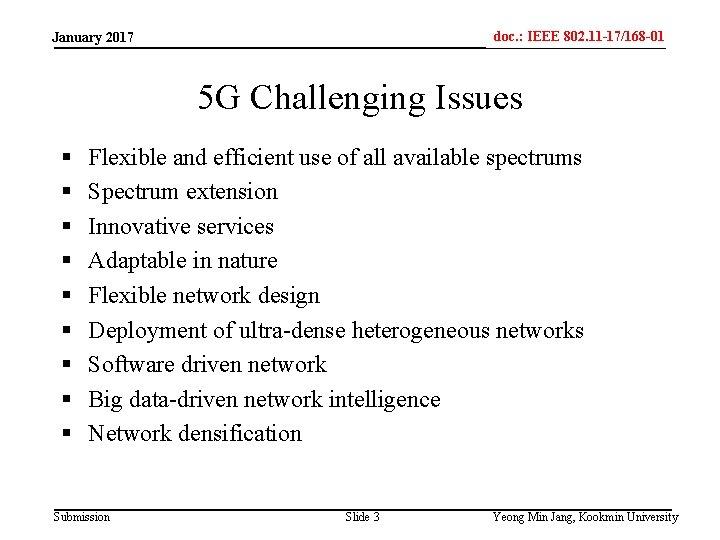 doc. : IEEE 802. 11 -17/168 -01 IEEE 802. 15 -xxxxx January 2017 5
