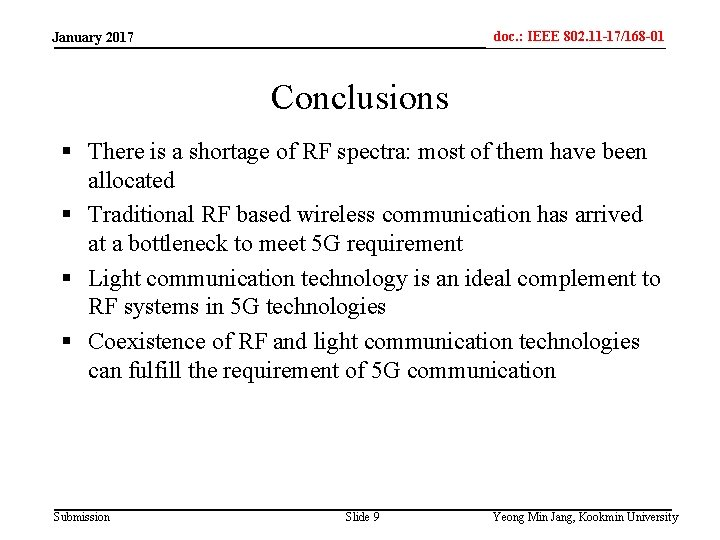 doc. : IEEE 802. 11 -17/168 -01 IEEE 802. 15 -xxxxx January 2017 Conclusions