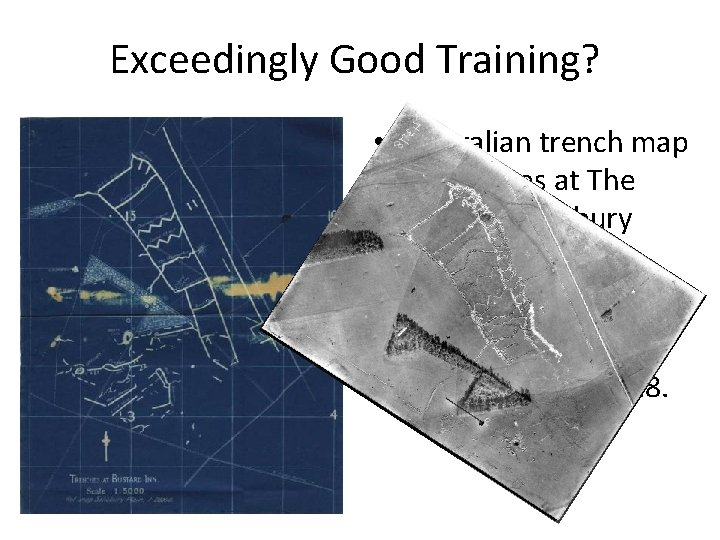 Exceedingly Good Training? • Australian trench map of trenches at The Bustard, Salisbury Plain,