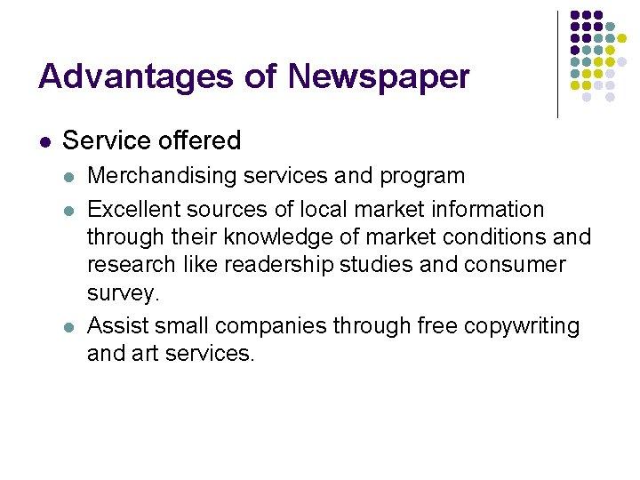 newspaper research advantages