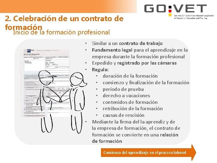 2. Celebración de un contrato de formación Inicio de la formación profesional • Similar