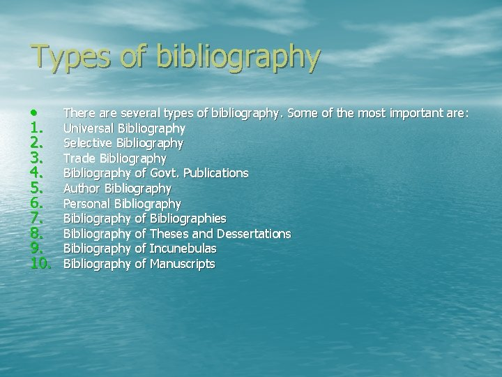 Types of bibliographies how to write the address of a letter