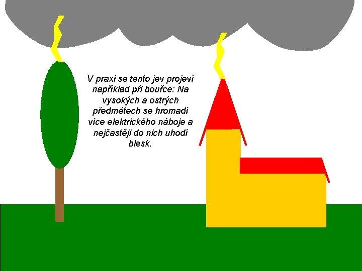 V praxi se tento jev projeví například při bouřce: Na vysokých a ostrých předmětech