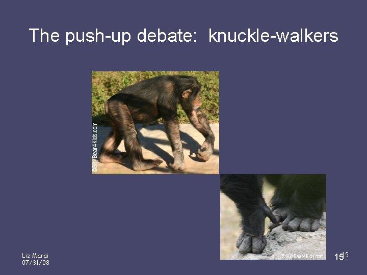 The push-up debate: knuckle-walkers Liz Marai 07/31/08 1515