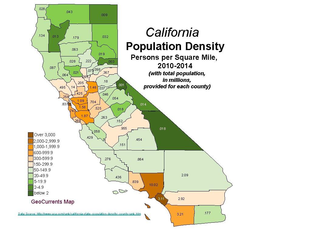 . 028 . 134 . 043 . 013 . 009 California . 032 .