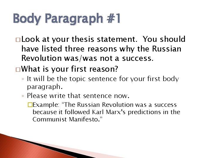 Thesis on russian revolution why i want to be a social worker essay