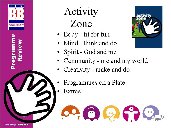 Programme Review Activity Zone • • • Body - fit for fun Mind -