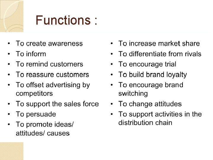 Functions :